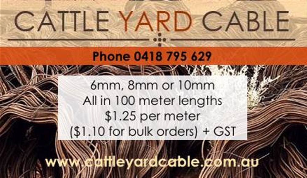 Cattle Yard Cable Dec 2020